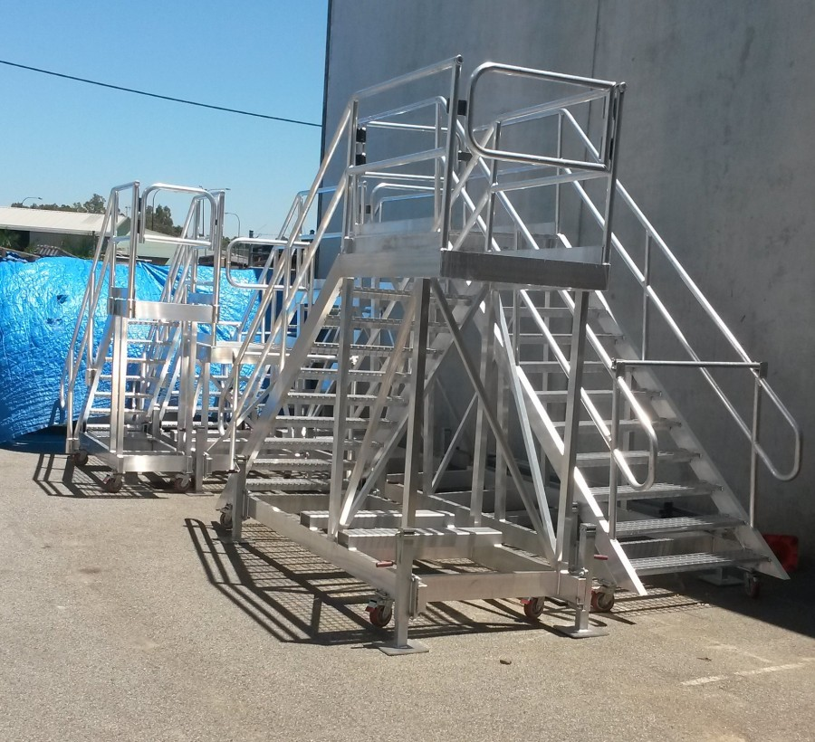 Completed access stairways and platforms