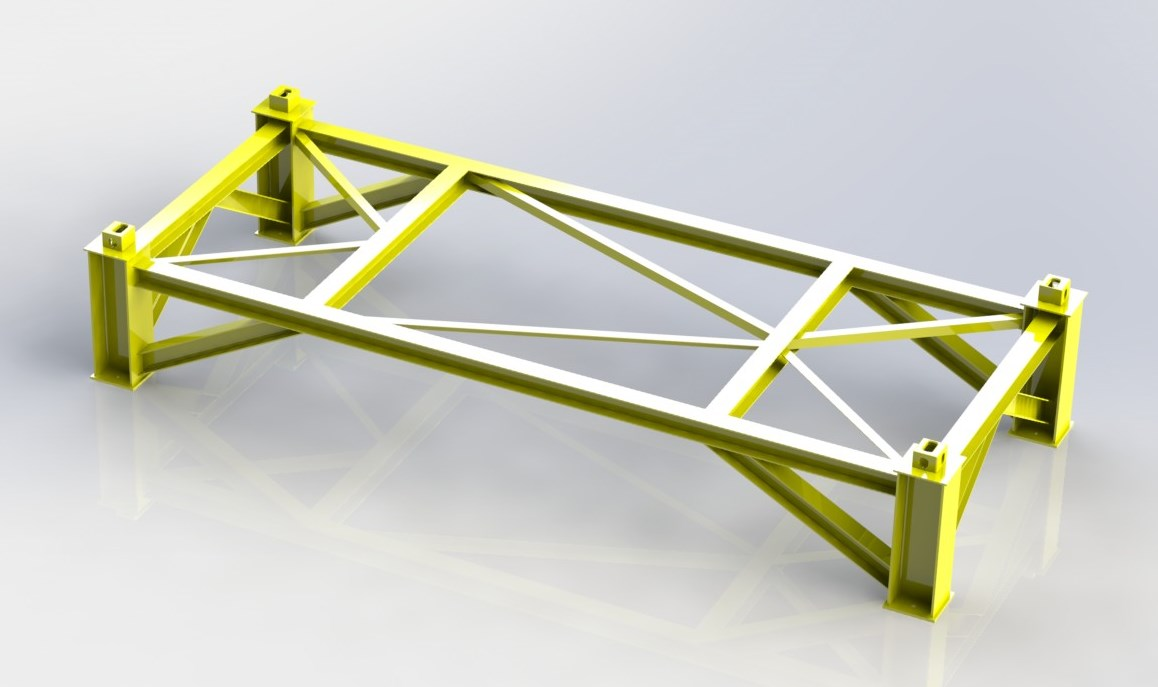 Heavy Equipment Frames : Transport and support frame design dynamic engineering