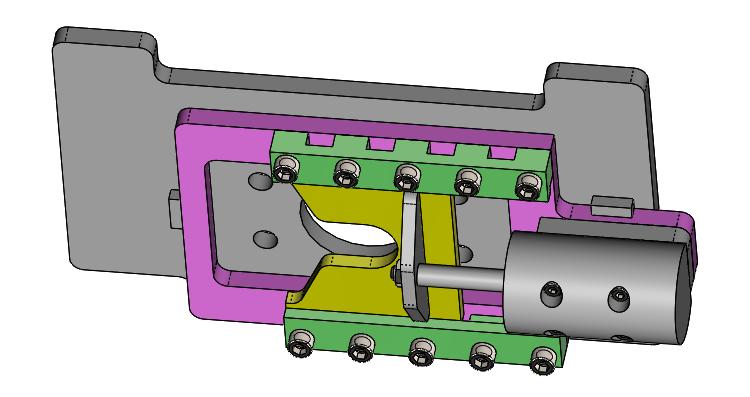 Sliding plate assembly