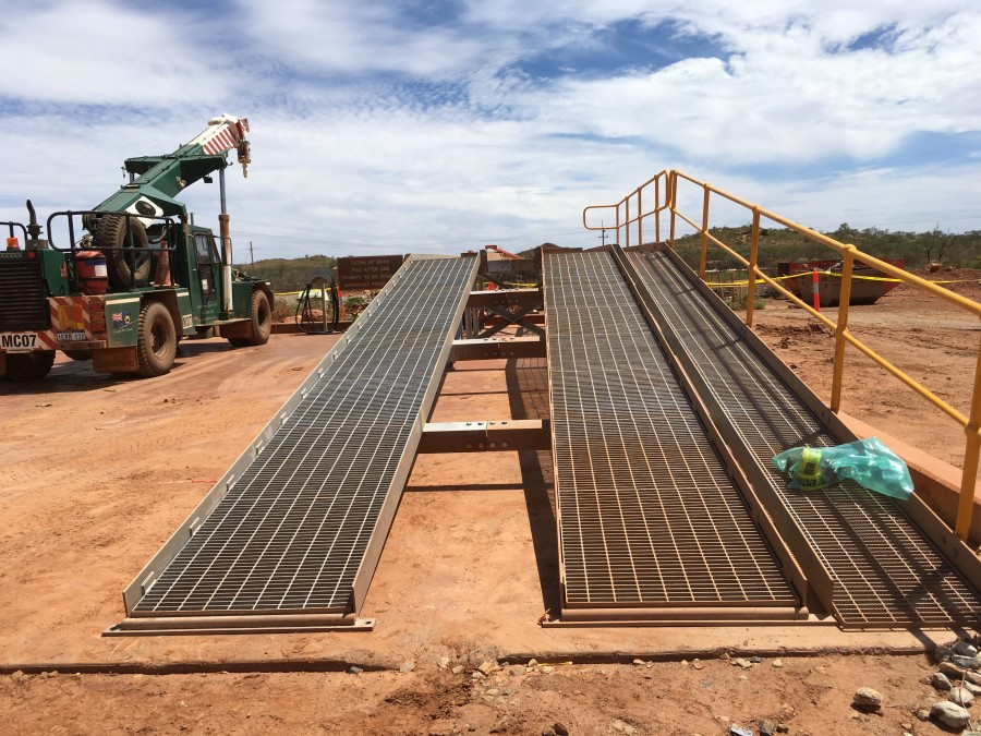 Actual ramp during construction