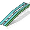 3D model 5T capacity vehicle ramp