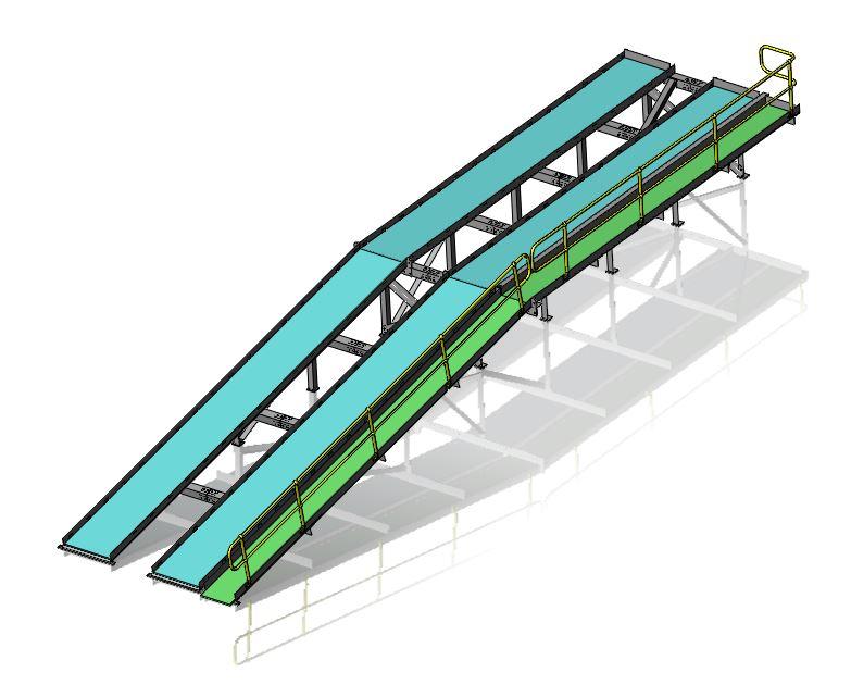 3D model 5T capacity vehicle ramp