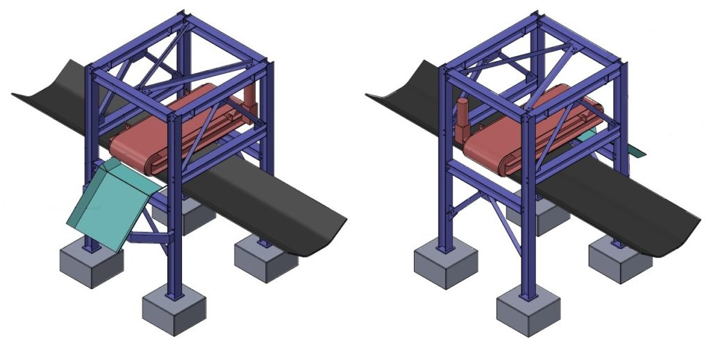conveyor magnet structure