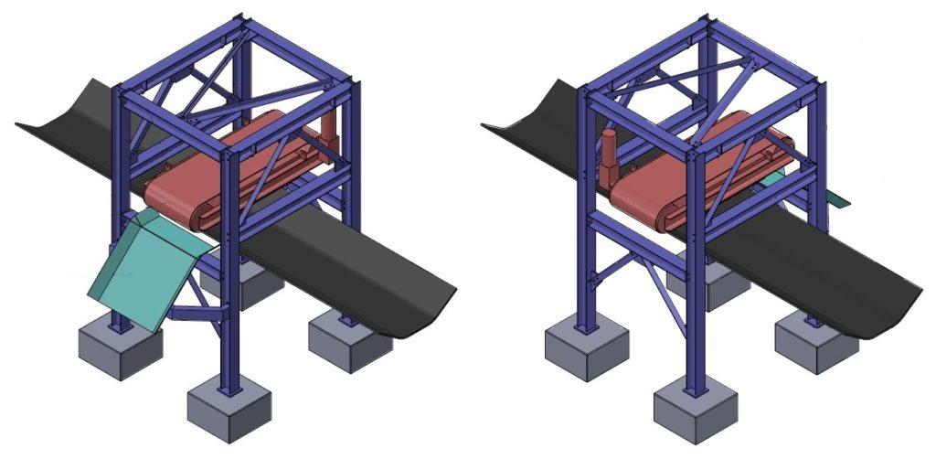 conveyor magnet structure